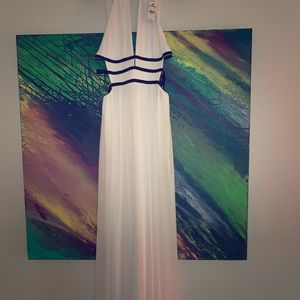 Beautiful white and black maxi dress